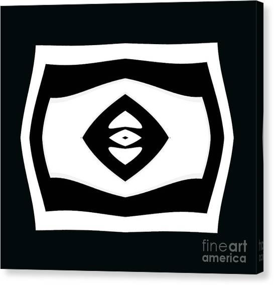 Minimalism Black White Geometric Abstract Art No.284. Canvas Print by Drinka Mercep