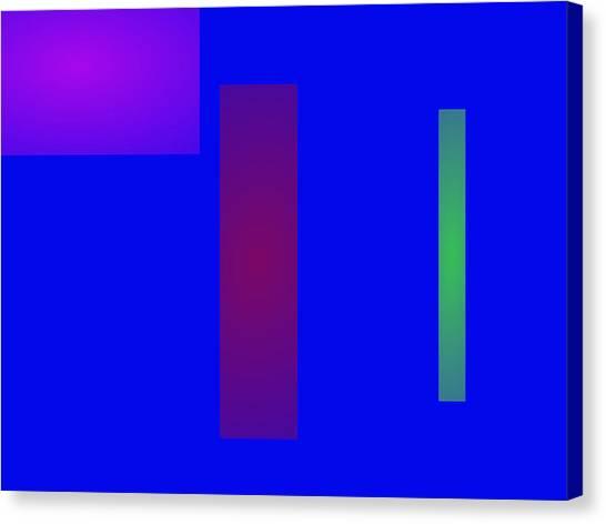 Minimalism Blue Canvas Print by Masaaki Kimura