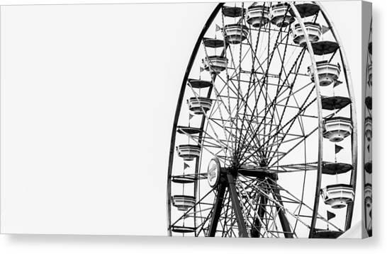 Wheels Canvas Print - Minimalist Ferris Wheel by Jon Woodhams