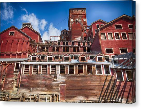 Mining Glory In Red Canvas Print