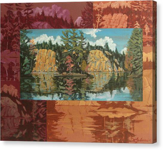 Mink Lake In Fall Canvas Print