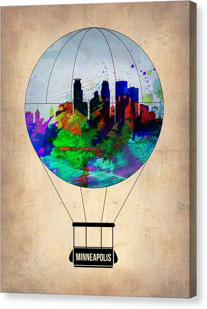 Balloons Canvas Print - Minneapolis Air Balloon by Naxart Studio
