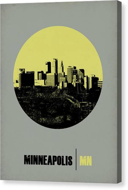 Minnesota Canvas Print - Minneapolis Circle Poster 2 by Naxart Studio
