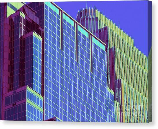 Minneapolis Downtown Blue Canvas Print