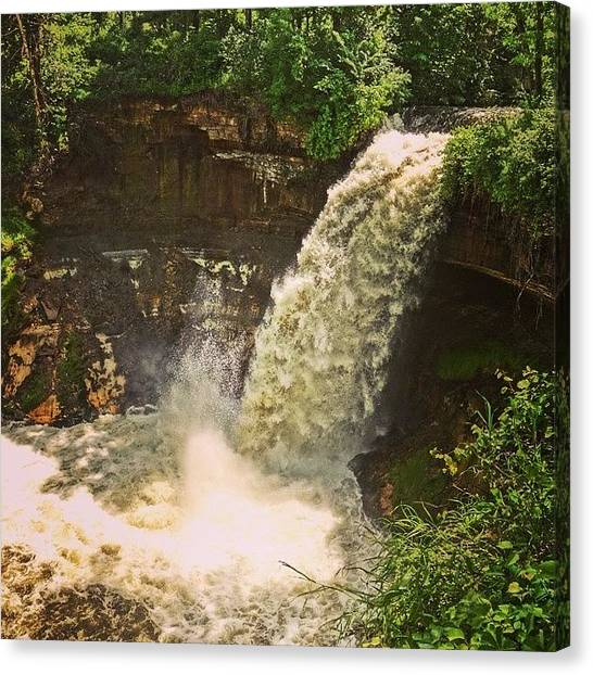 Waterfalls Canvas Print - Minnehaha Falls In The Flood by Heidi Hermes