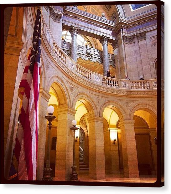 Landmark Canvas Print - Minnesota State Capitol Building by Heidi Hermes