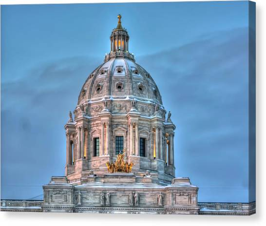 Paul Ryan Canvas Print - Minnesota State Capitol St Paul Mn by Amanda Stadther