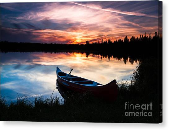 Minnesota Sunset Canvas Print