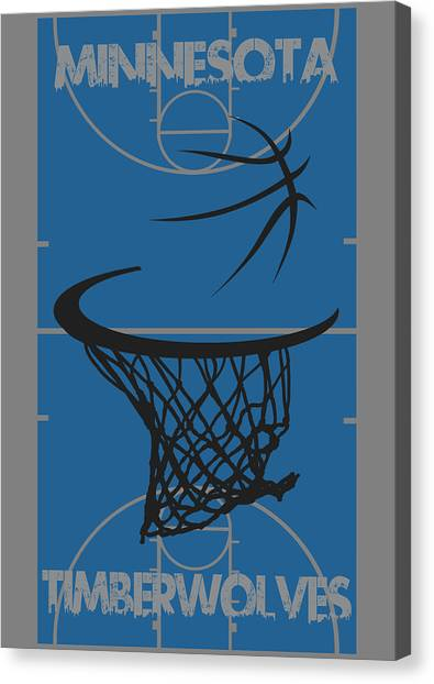 Minnesota Timberwolves Canvas Print - Minnesota Timberwolves Court by Joe Hamilton