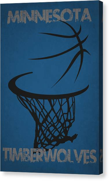 Minnesota Timberwolves Canvas Print - Minnesota Timberwolves Hoop by Joe Hamilton