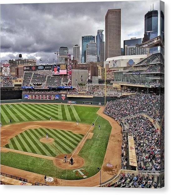 Minnesota Twins Canvas Print - #minnesota #twins Game. #minneapolis by Mike S