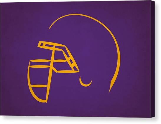 Minnesota Vikings Canvas Print - Minnesota Vikings Helmet by Joe Hamilton
