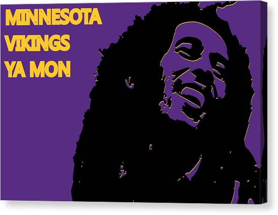 Minnesota Vikings Canvas Print - Minnesota Vikings Ya Mon by Joe Hamilton