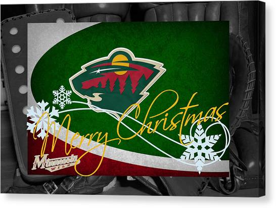 Minnesota Wild Canvas Print - Minnesota Wild Christmas by Joe Hamilton