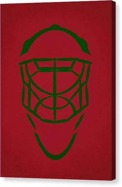 Minnesota Wild Canvas Print - Minnesota Wild Goalie Mask by Joe Hamilton