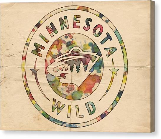 Minnesota Wild Canvas Print - Minnesota Wild Poster Art by Florian Rodarte