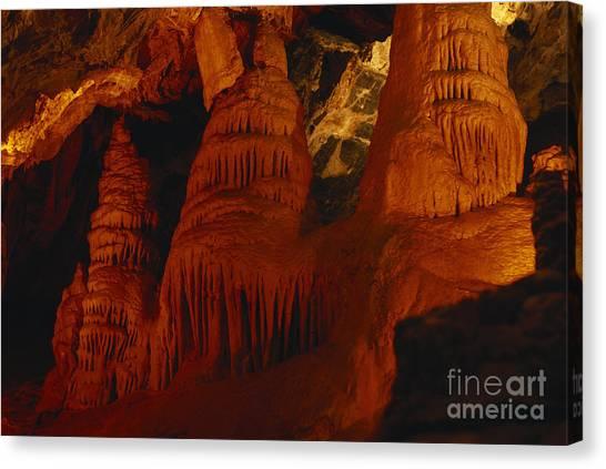 Limestone Caves Canvas Print - Minnetonka Cave by William H. Mullins