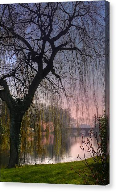 Composition Canvas Print - Minnewater Lake Bruges by Carol Japp