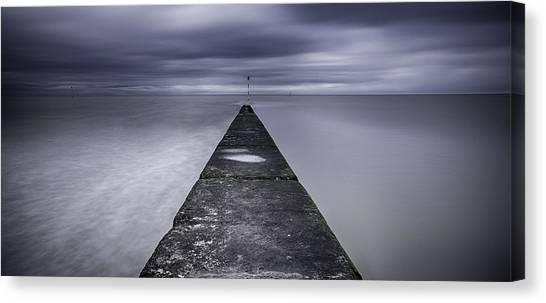 Minnis Canvas Print - Minnis Bay In Winter by Nigel Jones