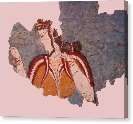 Minoan Wall Painting Canvas Print