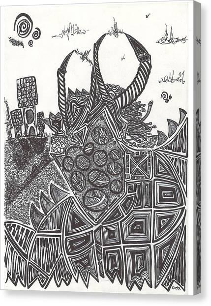 Minotaurs Canvas Print - Minotaur  by Alexis Escobar