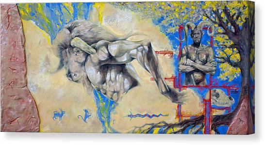 Minotaur Canvas Print - Minotaur by Derrick Higgins
