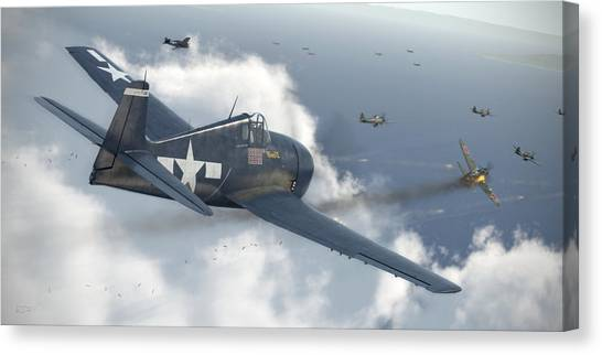 Aviation Canvas Print - Minsi 3 by Robert Perry