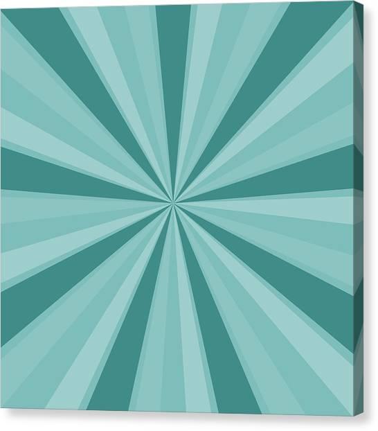 Mint Teal Sun Burst Canvas Print