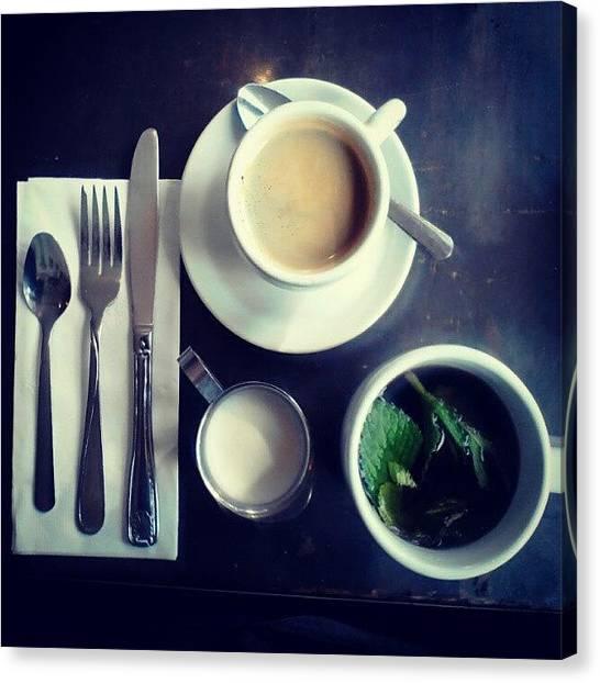 Tea Time Canvas Print - Pates Et Traditions by Marycruz Figueroa