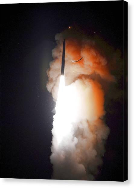 Minuteman IIi Missile Test Canvas Print