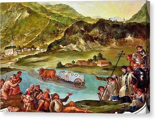 Miracle After Saint Notburga Death Canvas Print