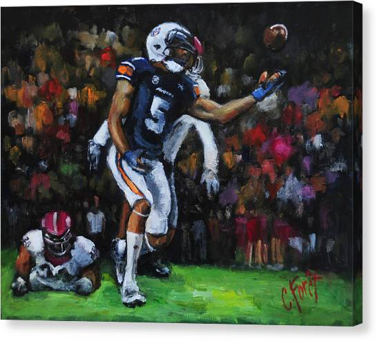 Miracle Catch 3 Canvas Print