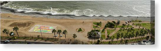 Miraflores Beach Panorama Canvas Print