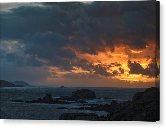Mirandas Islands Galicia Spain Canvas Print