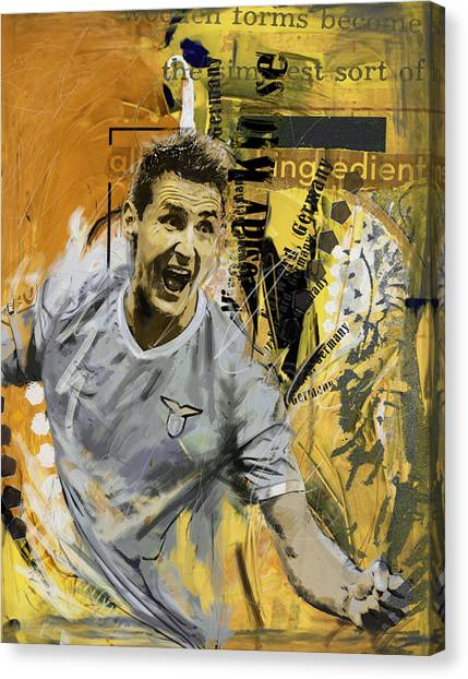 Fifa Canvas Print - Miroslav Klose - B by Corporate Art Task Force