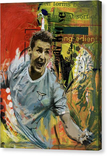 Fifa Canvas Print - Miroslav Klose by Corporate Art Task Force
