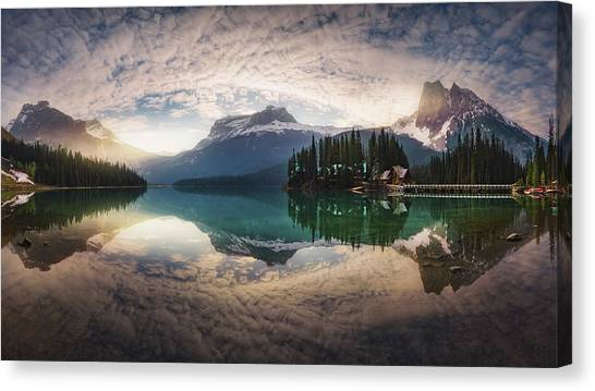 Alberta Canvas Print - Mirror Emerald by Juan Pablo De