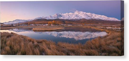 Russia Canvas Print - Mirror For Mountains 2 by Valeriy Shcherbina