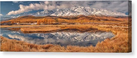 Panorama Canvas Print - Mirror For Mountains by Valeriy Shcherbina