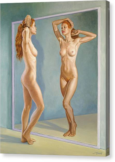 Mirror Canvas Print - Mirror Image by Paul Krapf