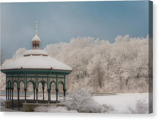 Mirror Lake Gazebo Canvas Print