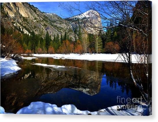 Mirror On The Lake Canvas Print