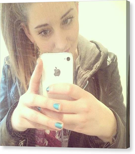 I Phone Canvas Print - Mirror Picture #hey #iphone #me by Emma Carpenter