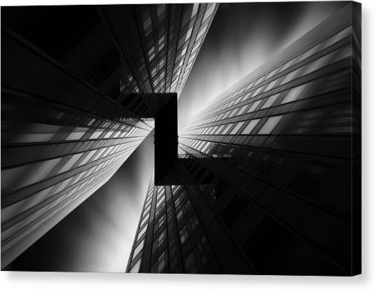 Connection Canvas Print - Mirrors by Sebastien Del Grosso