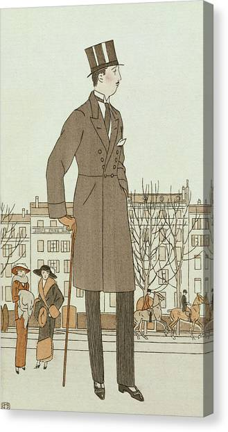 Fashion Plate Canvas Print - Mise D'un Jeune Homme by French School