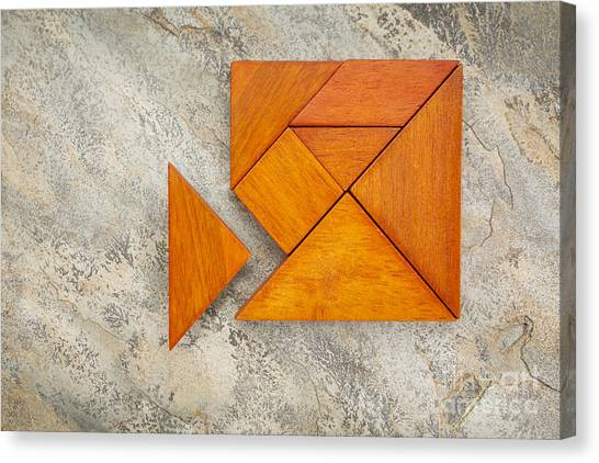 Misfit Concept With Tangram Canvas Print