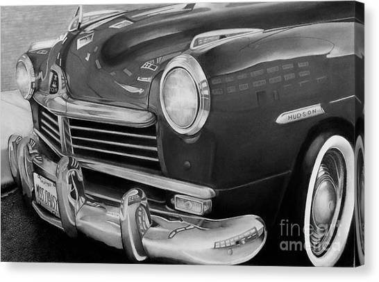 Miss Daisy Black And White Canvas Print