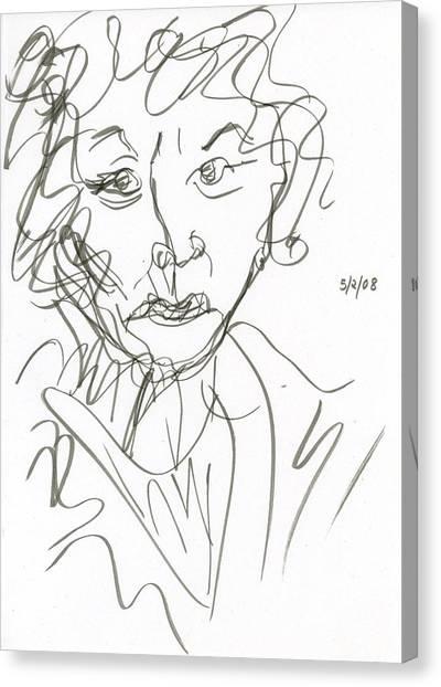 Miss Marple Sketch I Canvas Print
