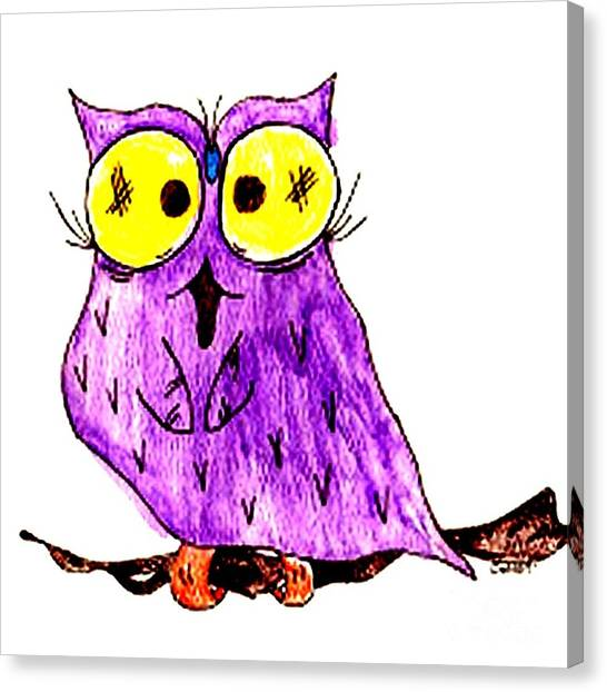 Miss Owl Canvas Print by Donna Daugherty