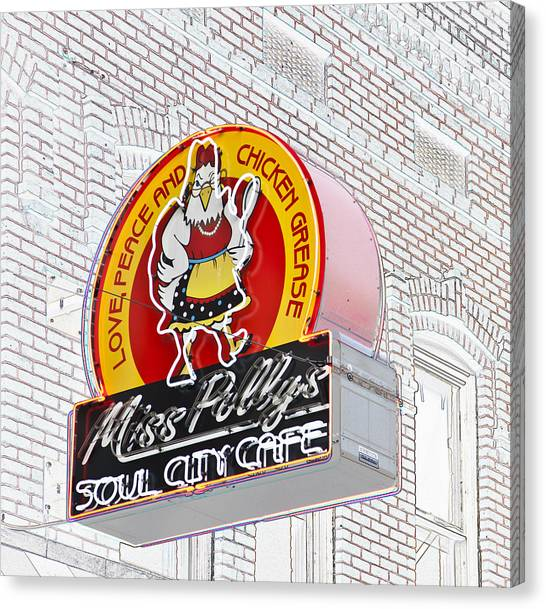 Miss Polly's Soul Cafe Canvas Print